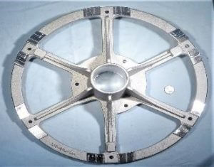 precision machined hard to hold casting 18 inch Wagon Wheel