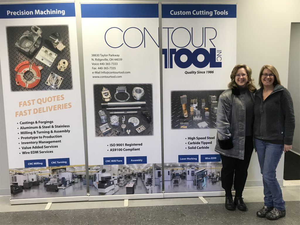 Cate Smith (PMPA's Executive Director) and Michelle Reichlin (CEO, Contour Tool Inc.)